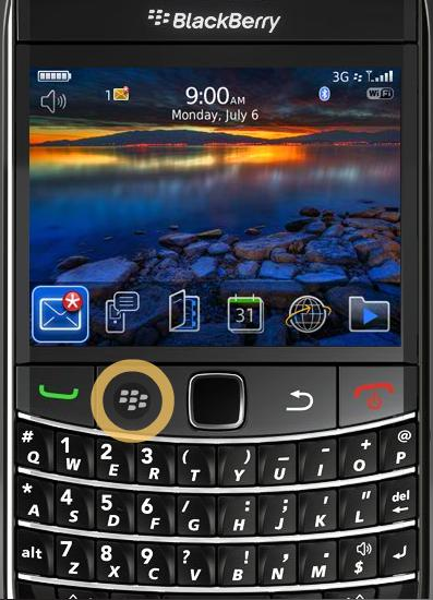 E-mail instellen Blackberry