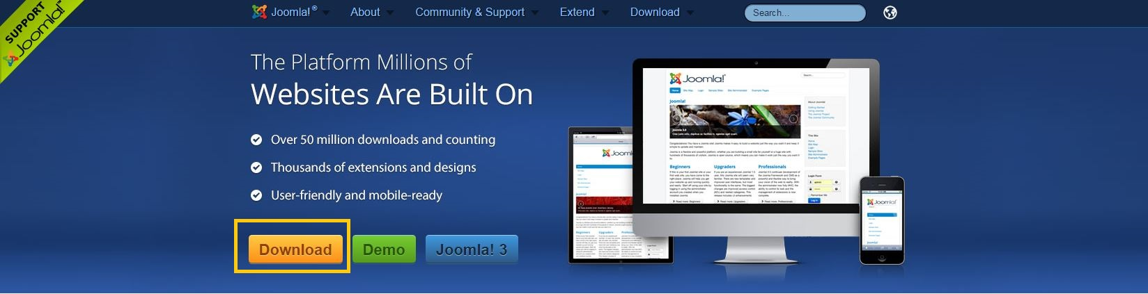 Joomla gratis downloaden