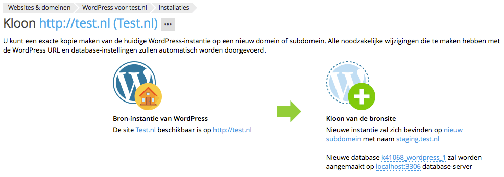 Wordpress klonen - WordPress Toolkit
