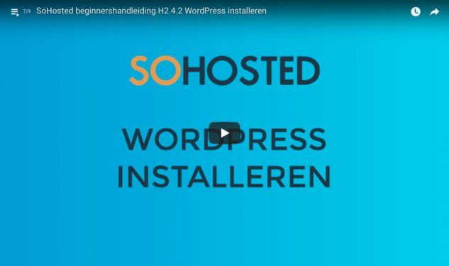 Beginnershandleiding WordPress installeren video