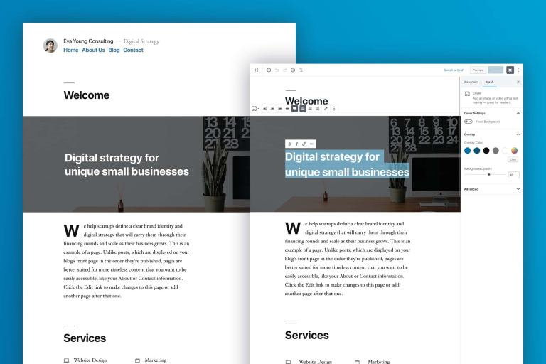 WordPress theme twenty nineteen